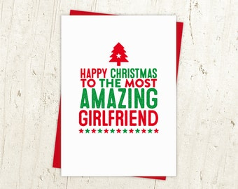 Happy Christmas Girlfriend Card