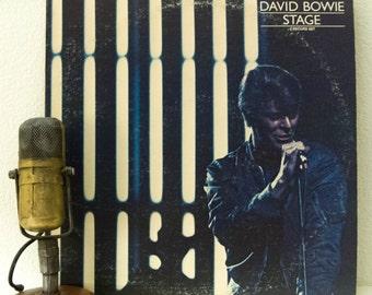 "ON SALE David Bowie Vinyl Record Album 1970s British Classic Rock and Roll LP, 'Stage'(Original 1978 Rca w/""Ziggy Stardust"")"