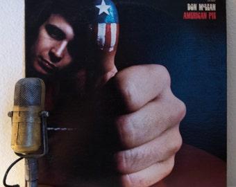 "ON SALE Don McLean Vinyl Record Album 1970s Folk Rock Storyteller Idealism LP ""American Pie"" (1980 Liberty Label re-issue)"