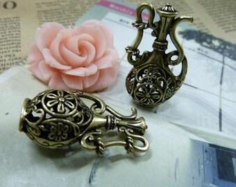 Steampunk Charm, Brass Hollow Teapot, Jug.
