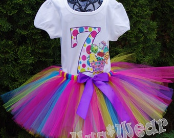 Shopkins Birthday Shirt + Tutu outfit (Any age)