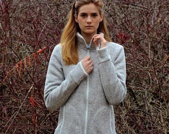 Monogrammed Full-Zip Heathered Fleece Jacket, Full Zip Fleece, Heathered Fleece Jacket, fleece jacket, Charles River womens fleece jacket