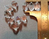 Herkimer Quartz Crystals - 10 crystals - 12mm long more or less - Ace of Diamonds - Middleville