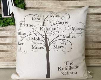 Family Tree | Family Reunion Gift | Mother's Day Gift |  Pillow Personalized