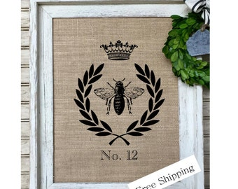 French Country Decor |French Crown Wreath |Rustic Home Decor | Farmhouse Decor | Cottage Decor