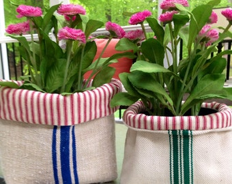 Fabric Storage Basket//Fabric Basket//Napkin Holder//Napkin Basket//Plant Holder//Fabric Storage//Plant Basket