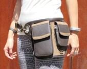 Leather Utility Belt Leather Belt Bag Hip Belt Travel Festival Belt with Pockets Cross Body Bag HB35c * Free Shipping*