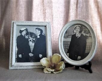 Vintage Wedding Picture / Photo Prop/ Movie/Play Prop / Instant Ancestors Vintage Framed Wedding Photo / 50's Wedding Photo