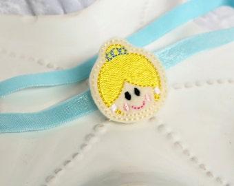 Cinderella Inspired Princess Headband or Hair Bow- Great for Disney Trips, Princess Birthday Parties, Dress-Up