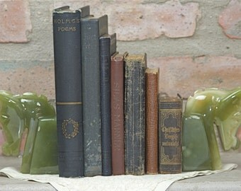Green Onyx Bookends Horse heads
