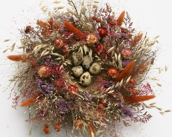 A Floral Nest For Your Table: Shades of Pink, Peach, and Cinnamon