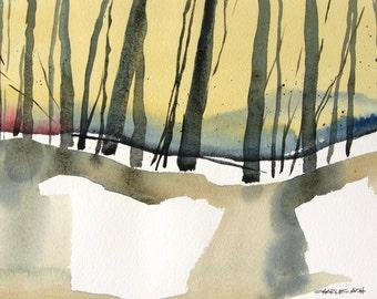 Wilderness Dawn - Original Watercolor Painting