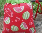 Pendant/Small, Watermelon, Scented, Print, Pipe Bags, Pipe Bag, Glass Pipe Protection, Pretty Pouches, Glass Pipe Bag, Pipe Cozy