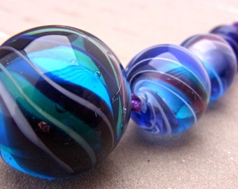 Marblelous  - Handmade Lampwork Glass Beads by Anne Schelling, SRA