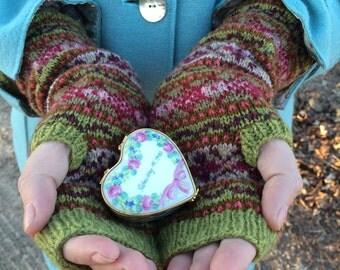 Handknit Shetland Wool Handwarmers