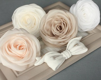 Pastel hair flower, bridal hair clip, wedding hair accessories, pastel flower, bridal hairpiece
