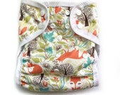 One Size Eco-PUL Cloth Diaper Cover Foxes