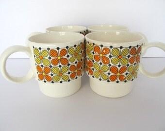 Retro Flower Power Mugs Coffee Tea