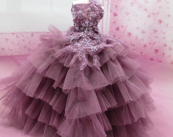 Blythe Outfit Clothing Cloth Fashion handcrafted beads tutu gown dress 956-8