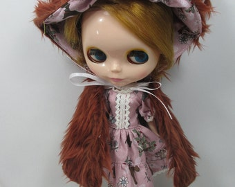 Blythe Outfit Clothing Fashion costume set animal fancy hat and dress  999-12