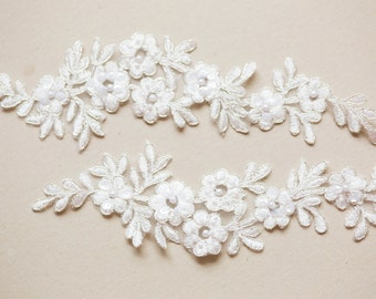 Offwhite and Silver Bridal Lace -Appset-002 Silver