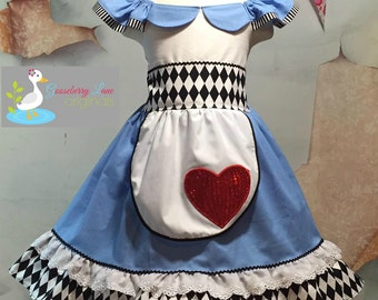 Ready to Ship Size 4 Alice in Wonderland Dress