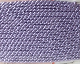 Lilac Silk Beading Cord with Needle Attached  - Size 8  -  Griffin Pure Silk Thread