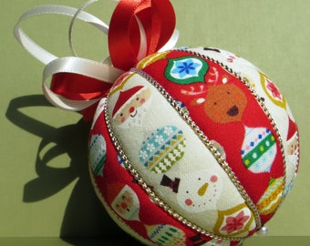 Christmas Ornament - Nordic Christmas Stripes -  Made to Order