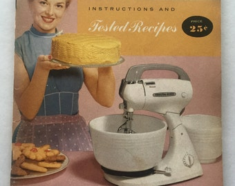 1960s Vintage Hamilton Beach Food Mixer Instructions & Tested Recipes Recipe Book Booklet
