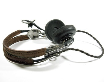 WW II Headset, Army Air Corps, Aviator, HB-7,