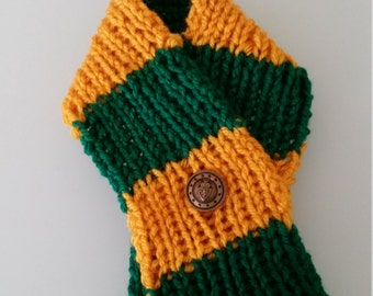 Baylor University hand knitted pet scarf