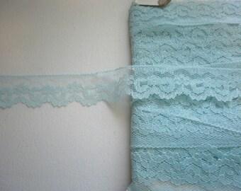 Lace 982 Lite Blue 1 inch wide Trim Vintage 5 yds Lace 982