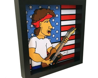 Bruce Springsteen Art E Street Band Music Born in the USA 3D Pop Artwork Print