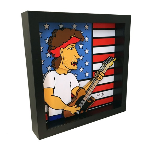 Bruce Springsteen Art E Street Band Music Born in the USA 3D Pop Artwork Print