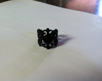 Filigree Ring Base with Pad....TOP QUALITY...20mm