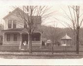 Vintage Photograph - Old House and Gazebo - Vernacular, Found Photo, Ephemera (A)