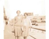 Girls on the Boardwalk - Vintage Photograph, Ephemera, Vernacular (A)