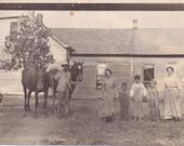 Family on the Farm - Vintage Photograph - Ephemera - Vernacular (A)