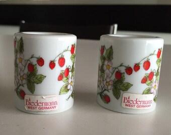 Candle Holders Biedermann PAIR Strawberries/ Germany 1970's By Gatormom13