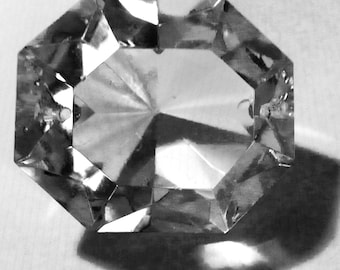 LARGE Crystal Prismatic Drops, Big, 8-Sided, 1920s Gems!