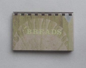 "SALE ITEM Price is marked Handmade ""Breads"" Blank Recipe Book"