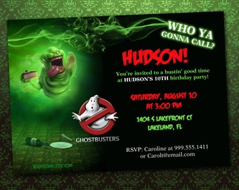Ghostbusters Party Invitation *Digital Download*