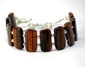 Tigers Eye Bracelet, Gemstone Bracelet, Gemstone Silver Bracelet, Beaded Bracelet