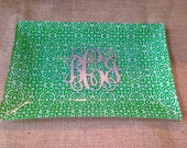 Monogram Glass Tray - Personalized Vanity Tray or Jewelry Holder
