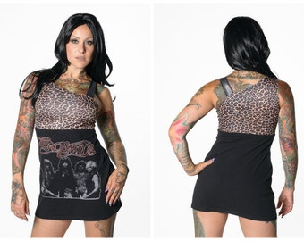 Aerosmith Leopard Print Over The Shoulder Dress