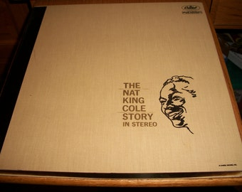 Nat King Cole Vinyl LP Albums, The Nat King Cole Story in Stero, 3 record boxed set, by Nanas Vintage Shop on Etsy