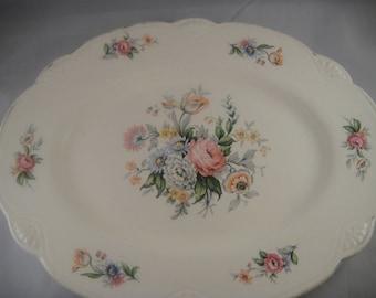 Homer Laughlin J44 N8 Floral Oblong Platter