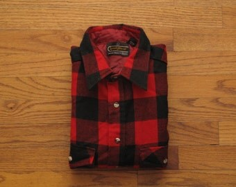 mens vintage buffalo plaid shirt