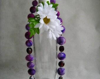 """A felt necklace """"Purple haze"""""""