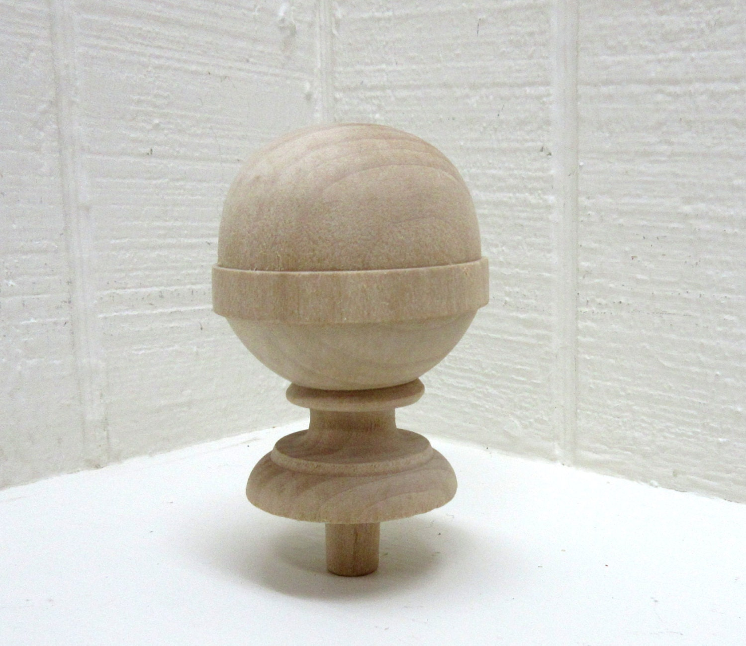 Finial Unfinished Wood Finial With Nice Profile
